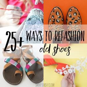 25+ diy shoe refashion tutorials