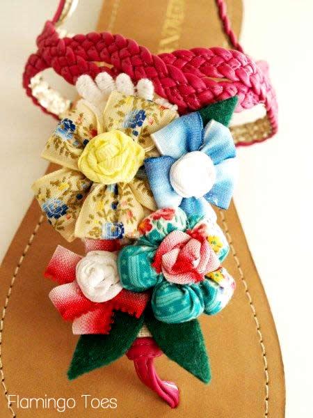 flower sandal refashion