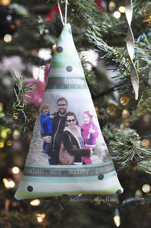 fabric christmas tree ornament diy