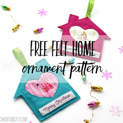 Free felt house ornament pattern
