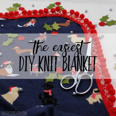 How to make a no sew blanket with knit fabric