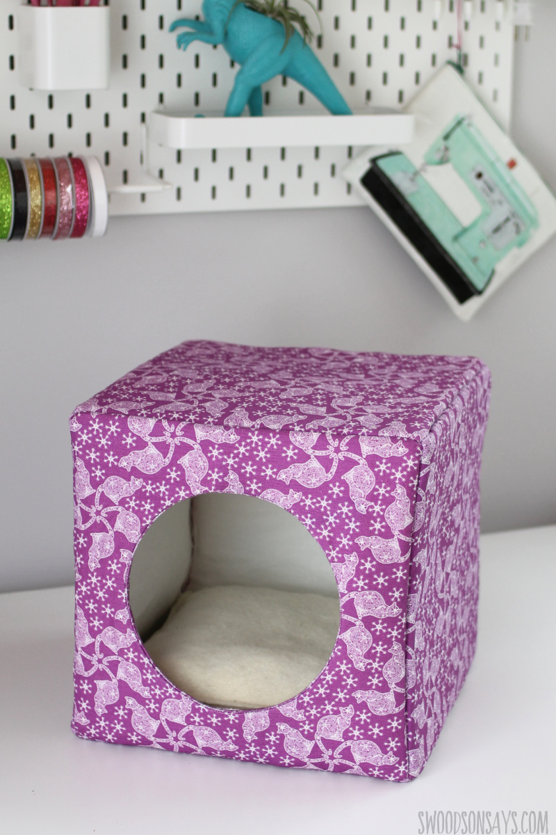 how to sew a cat bed cube with hole