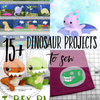 15+ dinosaur sewing pattern ideas