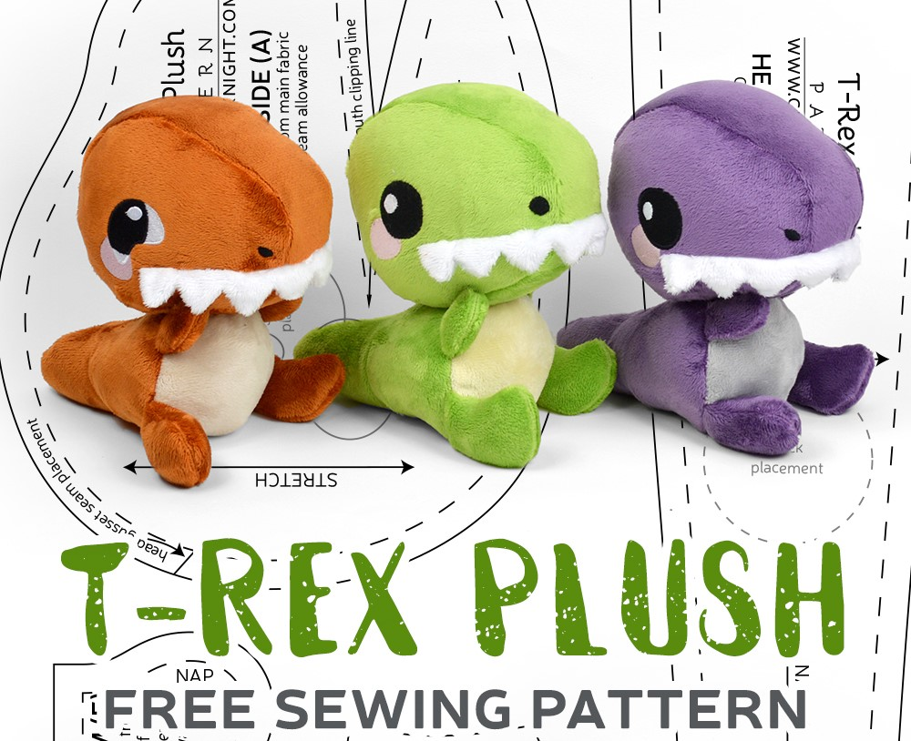 t rex sewing pattern