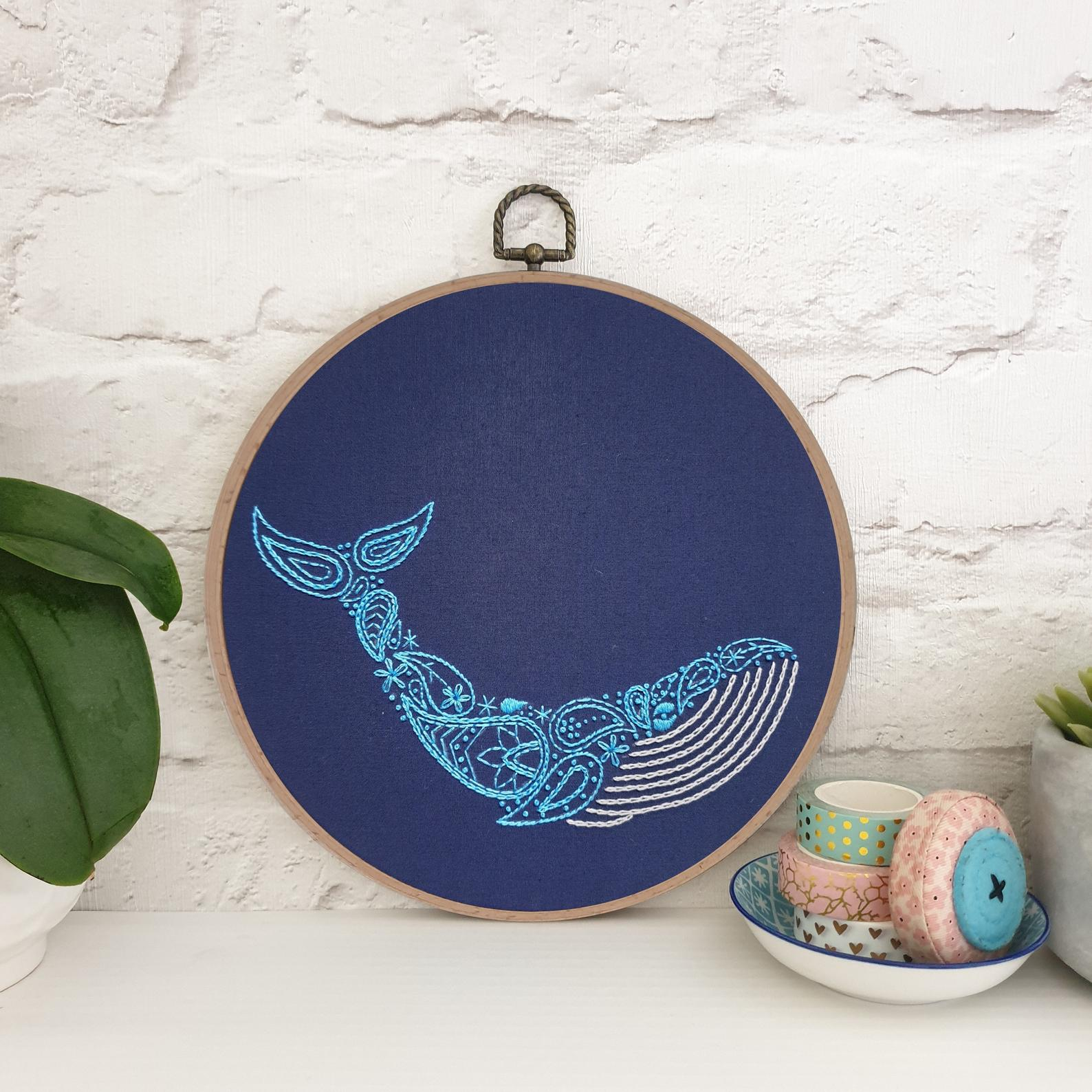 whale embroidery pattern