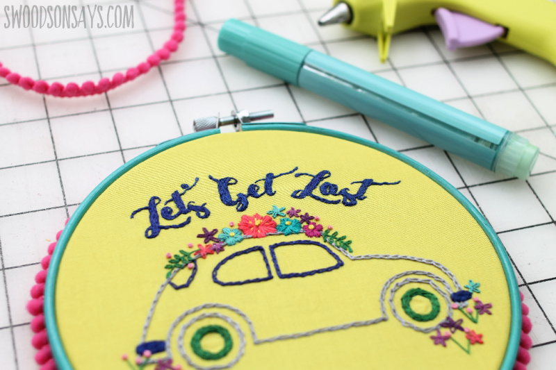 how to paint an embroidery hoop