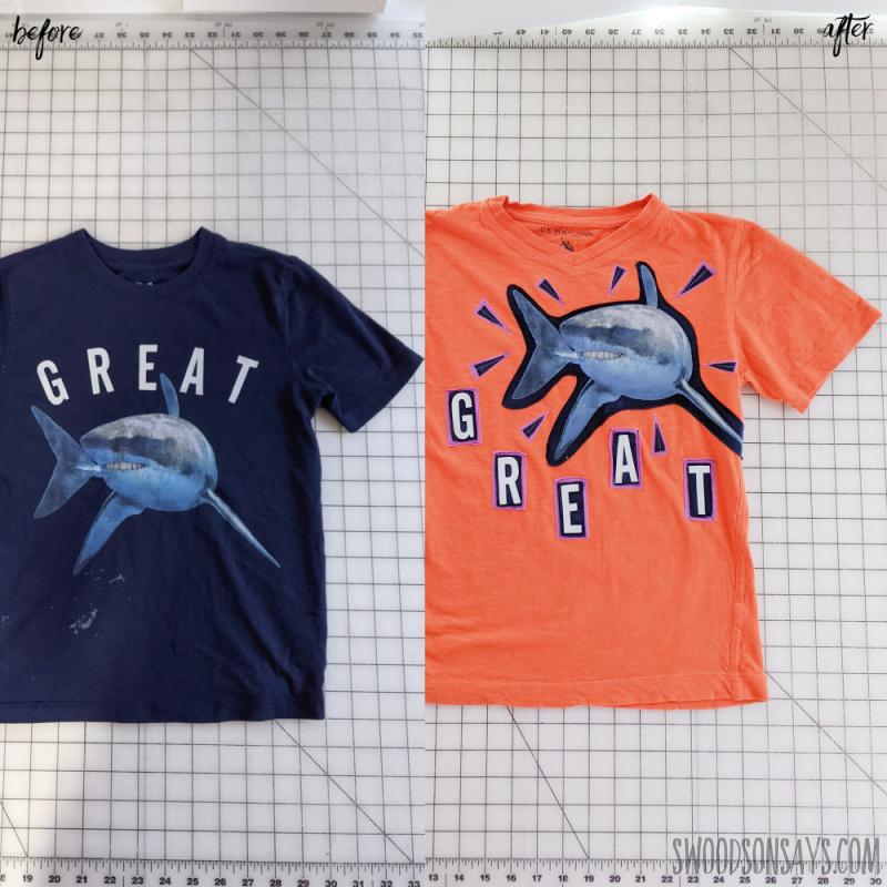 refashioned favorite kids shirt