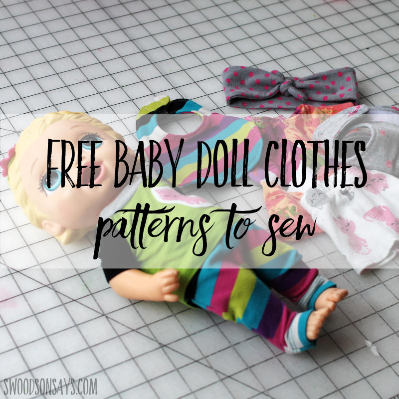free baby doll clothes patterns to sew