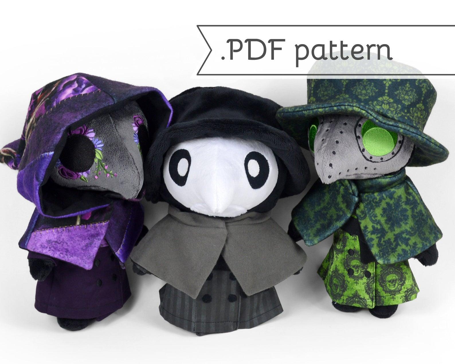 plague doctor stuffed doll