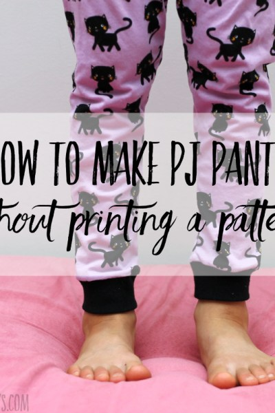 How to make pajama pants without a pattern