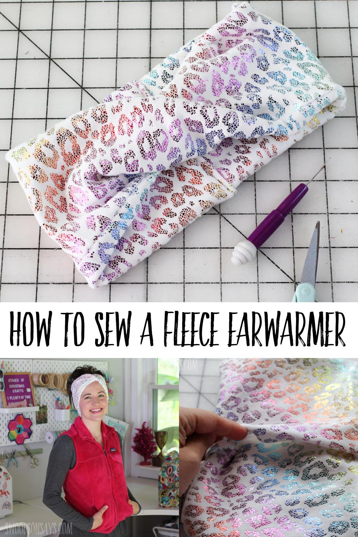 fleece ear warmer twisted tutorial
