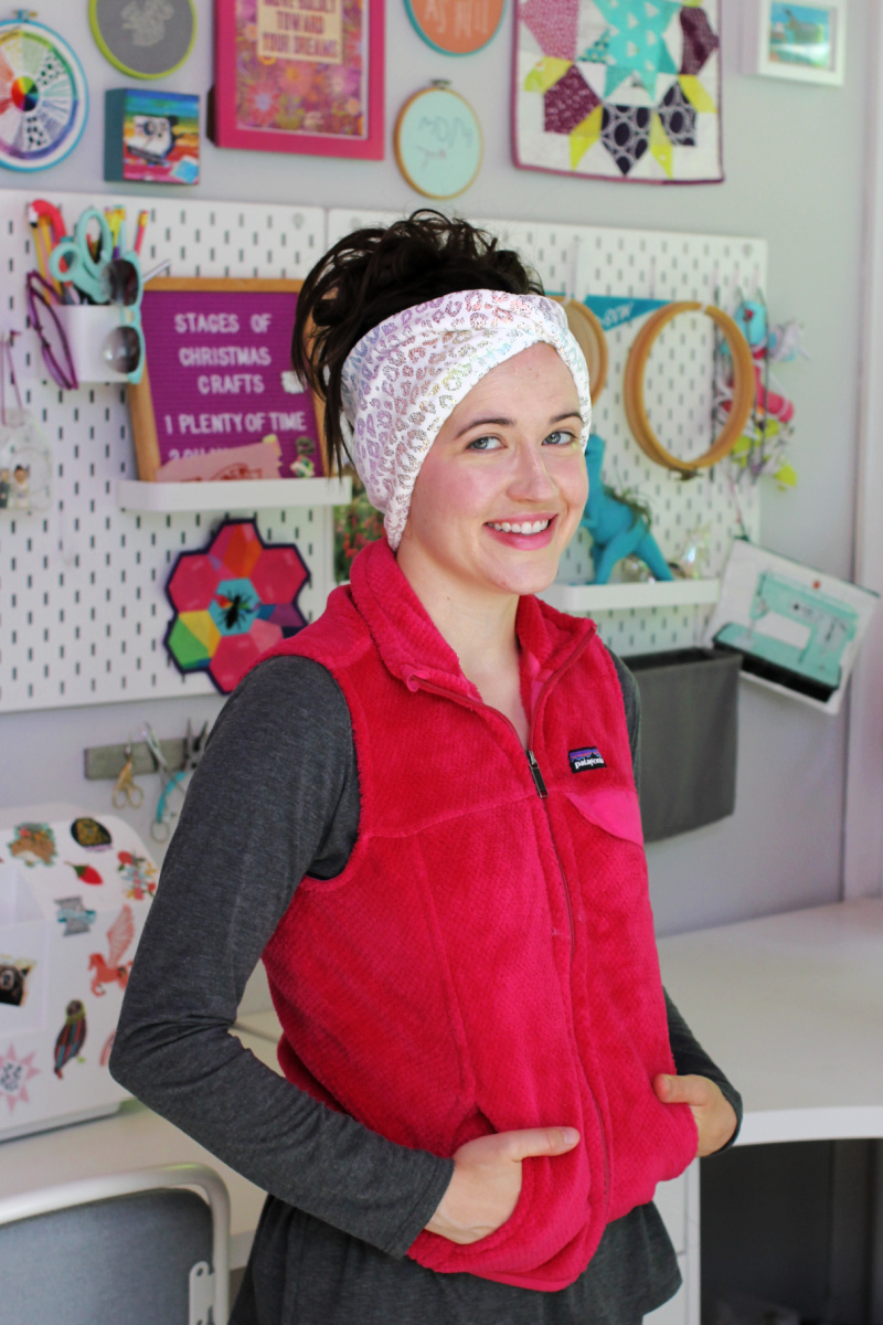 how to make wide ear warmer sewing