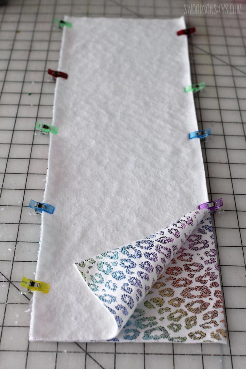 rainbow animal print fleece