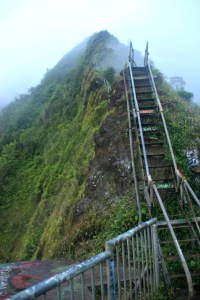 Hiking the Stairway to Heaven Hawaii - Swoon Divers Travel