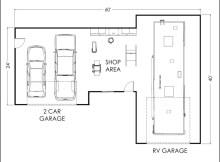 Garage Shop Floor Plans
