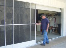 Sliding Garage Screen Doors