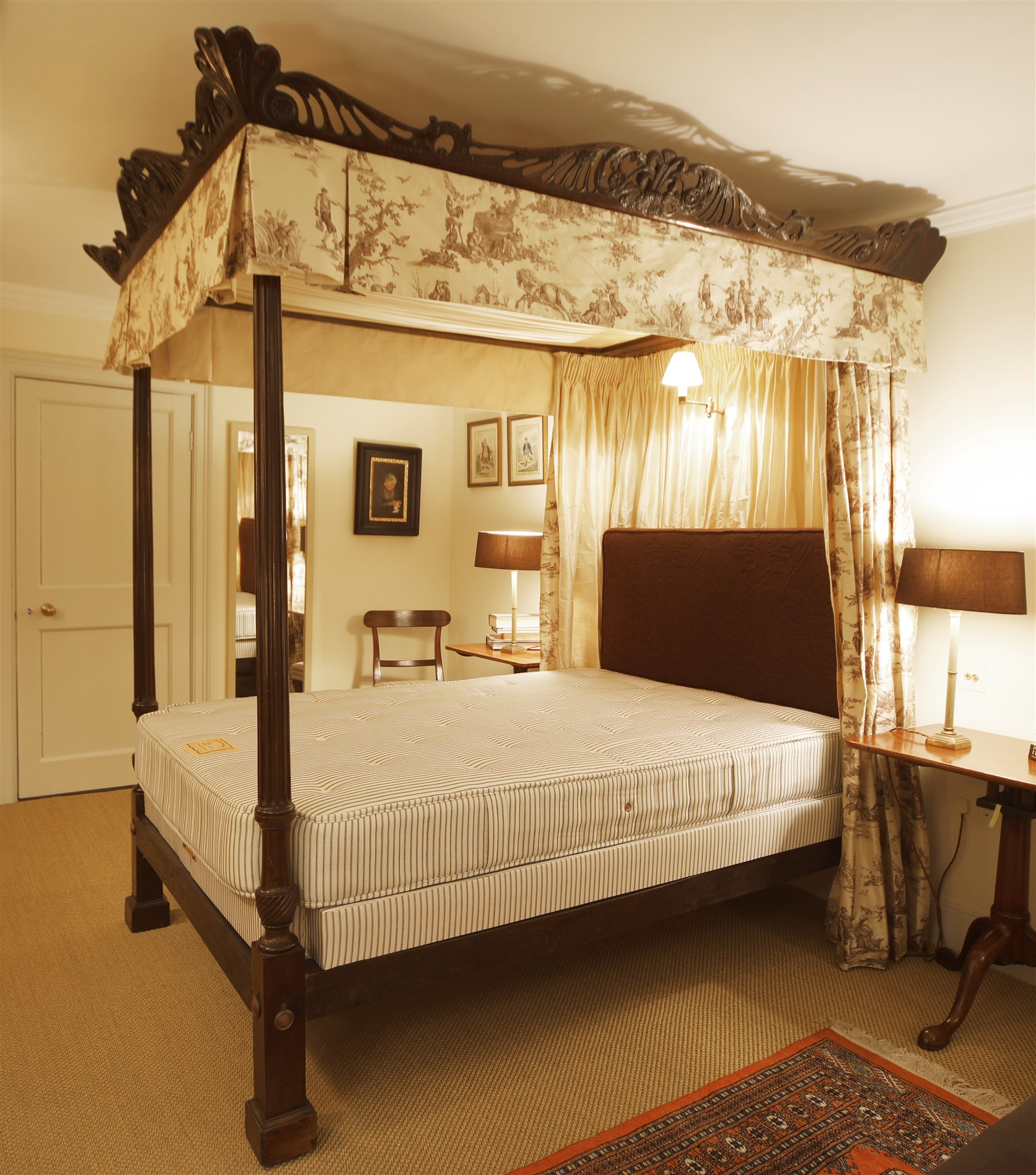 a george iii style mahogany four poster bed