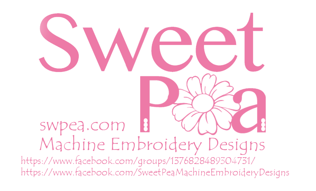 Sweet pea machine embroidery designs in the hoop machine Fashion embroidery designs