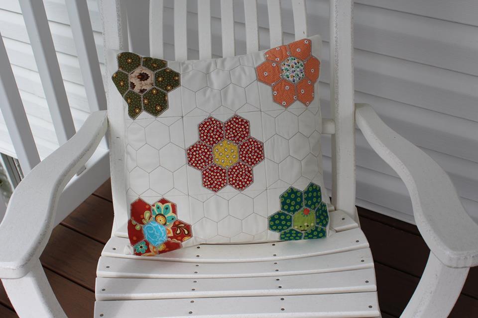 1307 Roxanne Gumbert Hexagon cushion pillow