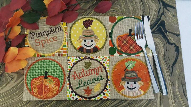 thanksgiving scarecrow machine embroidery design