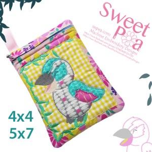 machine embroidery design kookaburra purse