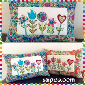 machine embroidery in the hoop design