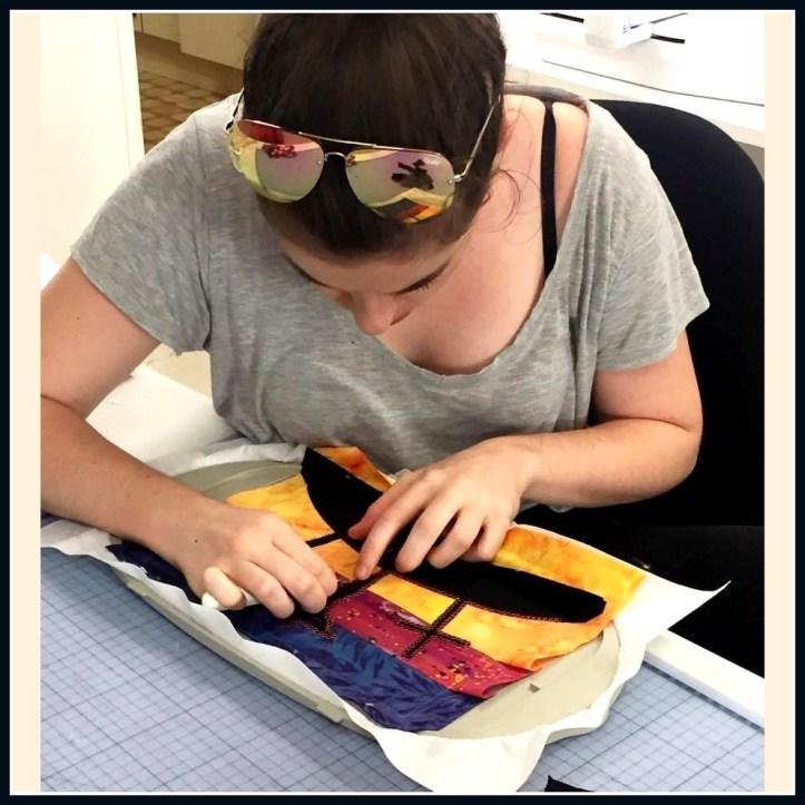 machine embroidery trim applique