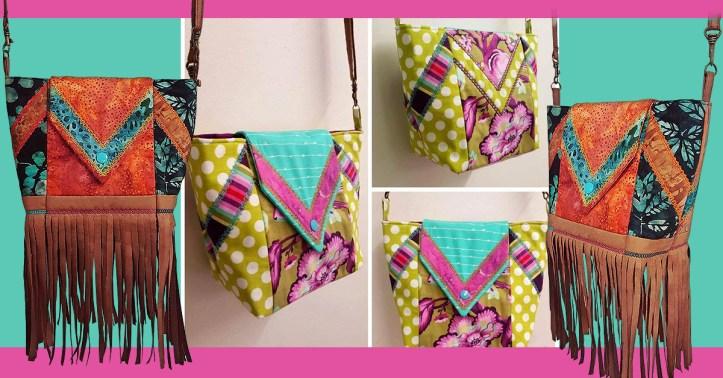 machine embroidery design Tassel bag sew-a-long