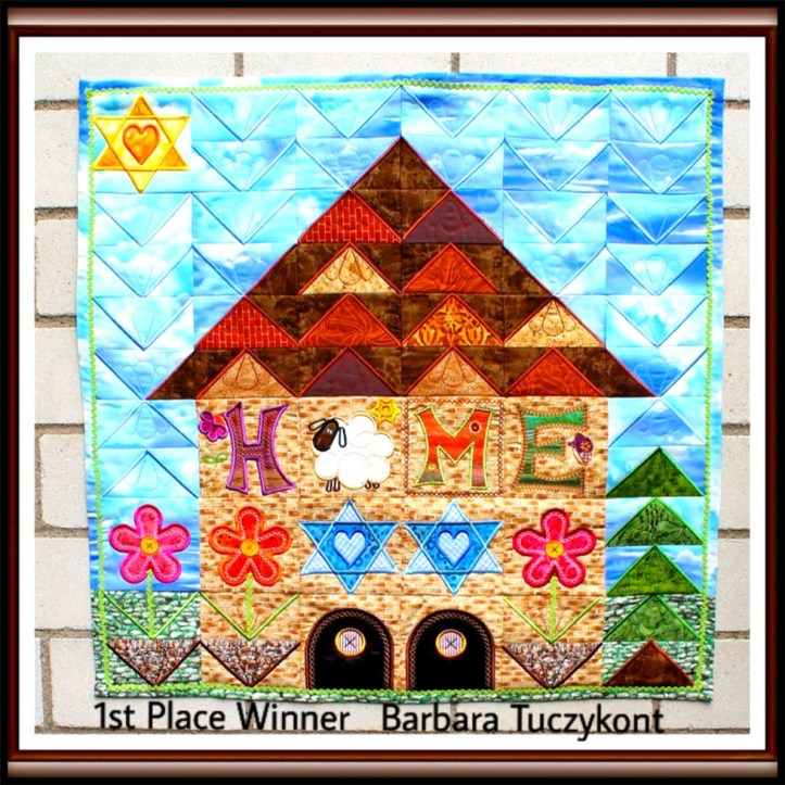 machine embroidery in the hoop sew-a-long winner
