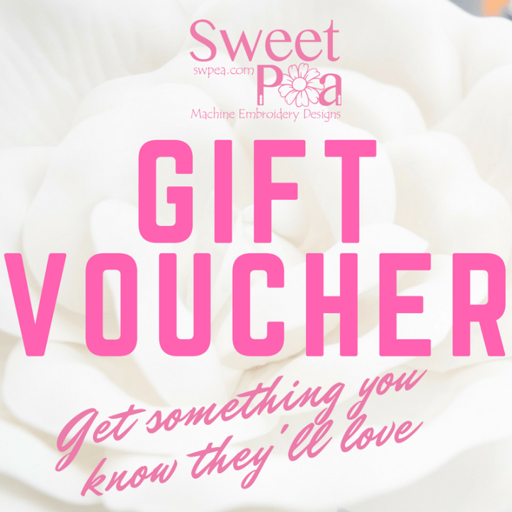 machine embroidery gift voucher
