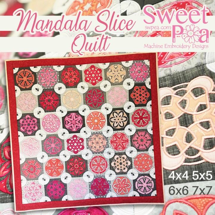 Mandala Slice Quilt 4x4 5x5 6x6 7x7 in the hoop