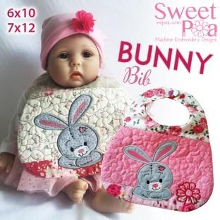 Bunny Bib 6x10 7x12 in the hoop