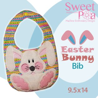 Easter Bunny Bib 9.5x14 in the hoop