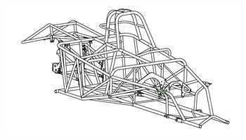 67-68 Camaro Roadster Chassis Kit ⋆ S&W Race Cars