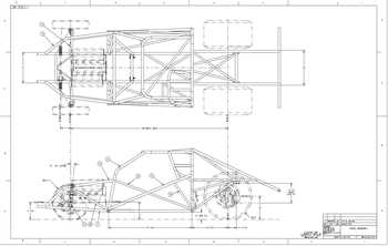 2005- 2014 Mustang Tube Chassis Blueprint ⋆ S&W Race Cars