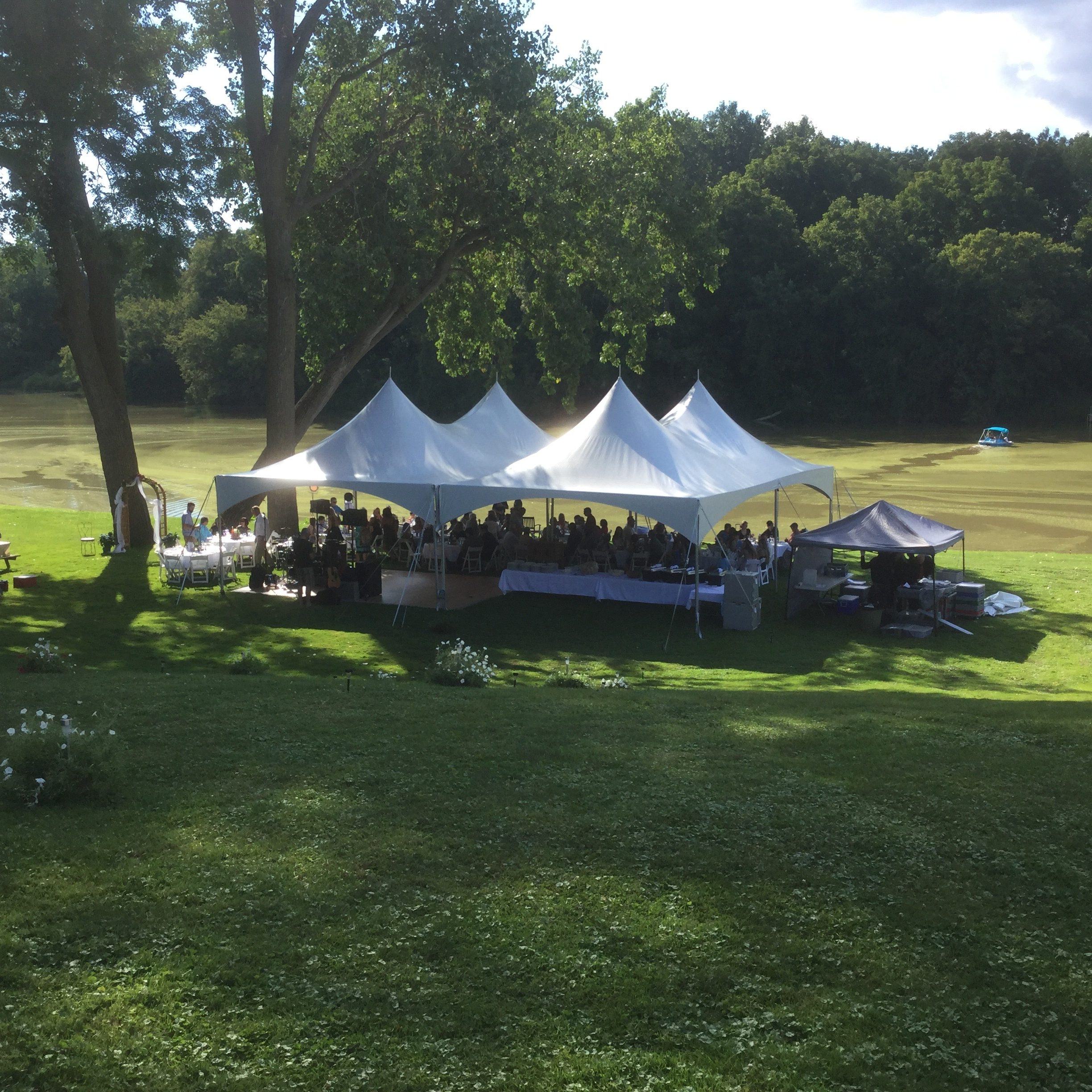 illustrates an outdoor party