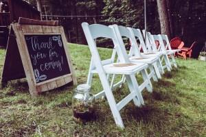 illustrates wedding chairs