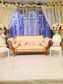 Stage for the bride & groomm