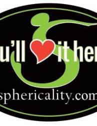 Sphericality Love It Here Sticker