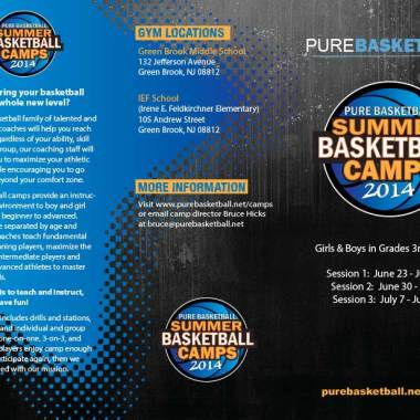 Pure Basketball Camp Brochure Front