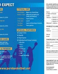 Pure Basketball Camp Brochure Inside