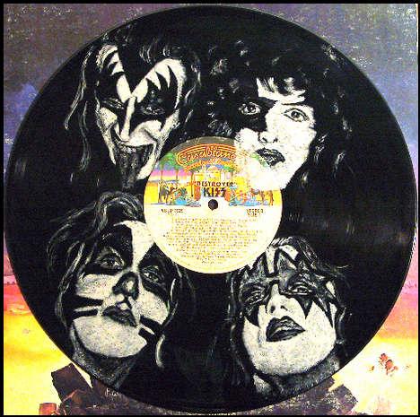Vinyl als Leinwandersatz (wie hier z.B. für schmucke Porträts)