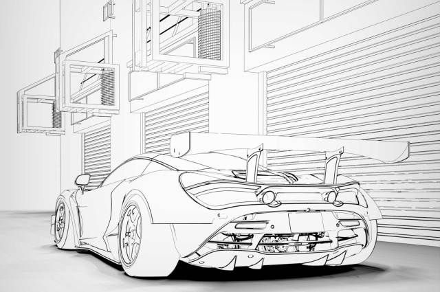 Free Car Colouring Pages: Downloads Of Ferrari F24, Toyota Supra