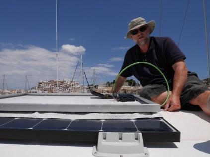 Deinstallation der Solarzellen