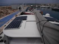 Solarzellen und Windgenerator