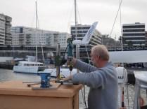 Arbeiten am Schiff