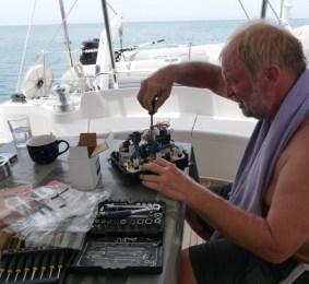 Reparaturarbeiten an Bord