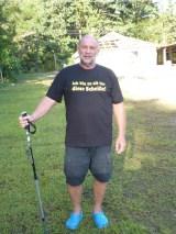 Nach der Wasserfallwanderung - Man beachte die T-Shirt-Aufschrift