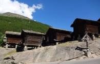 Holzhäuser auf Stelzen