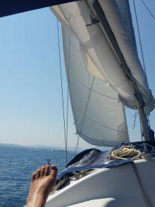 Fuß vor Segel - das maritime Stilleben
